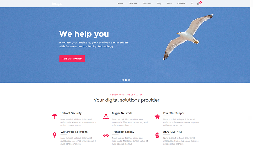 HTML Website Template With Background Color Options
