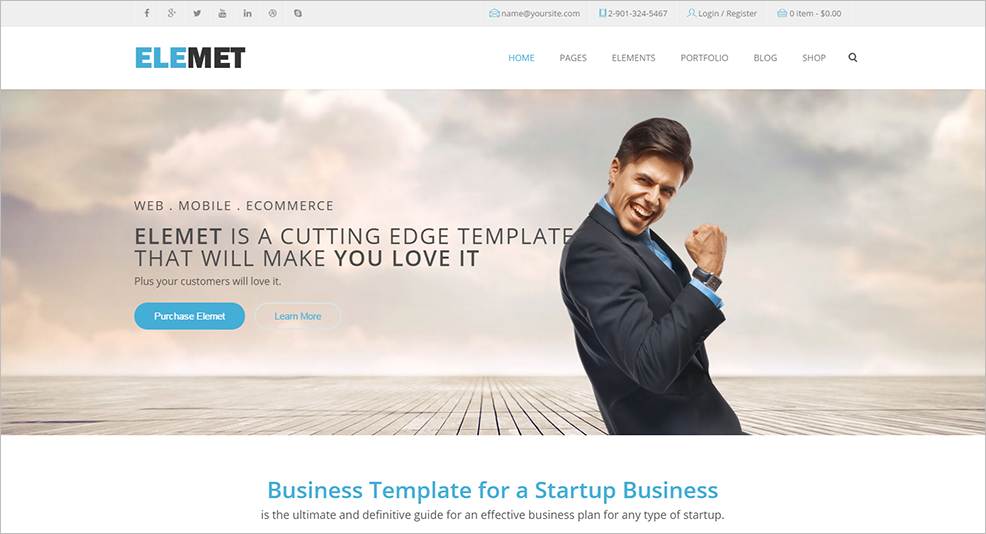 HTML5 Bootstrap Template For Agencies