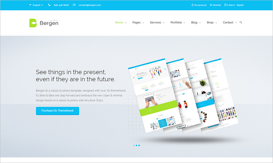 HTML5 Business Template With Multi-Layer Parallax