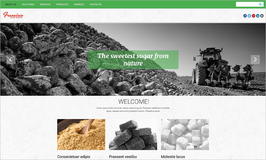 HTML5 Template For Business & Industry Website