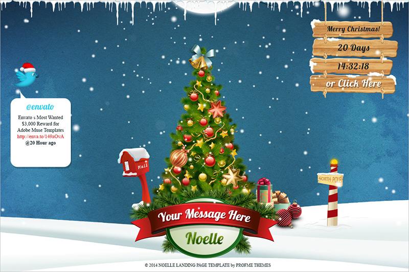 HTML5CSS3 Christmas Landing Page