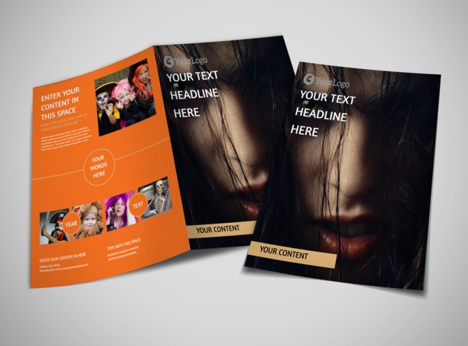 Halloween Costumes Brochure Template