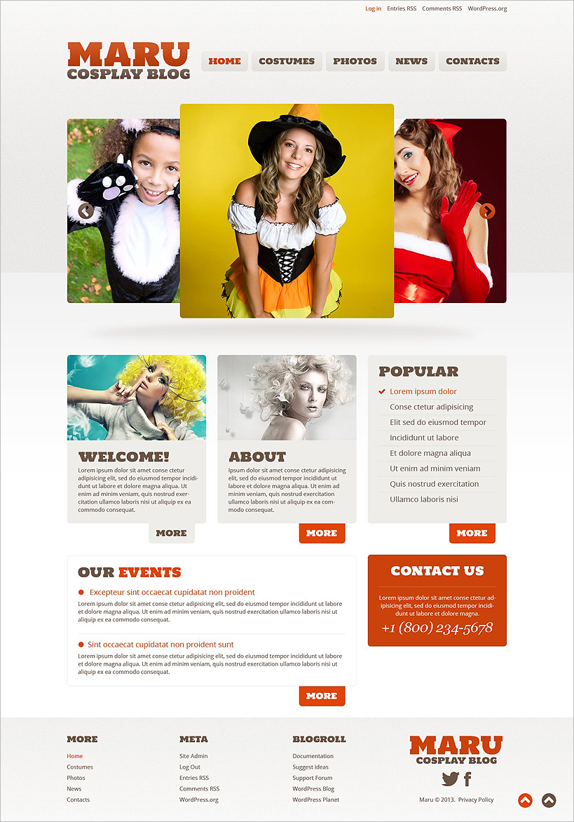 Halloween Website Template WordPress