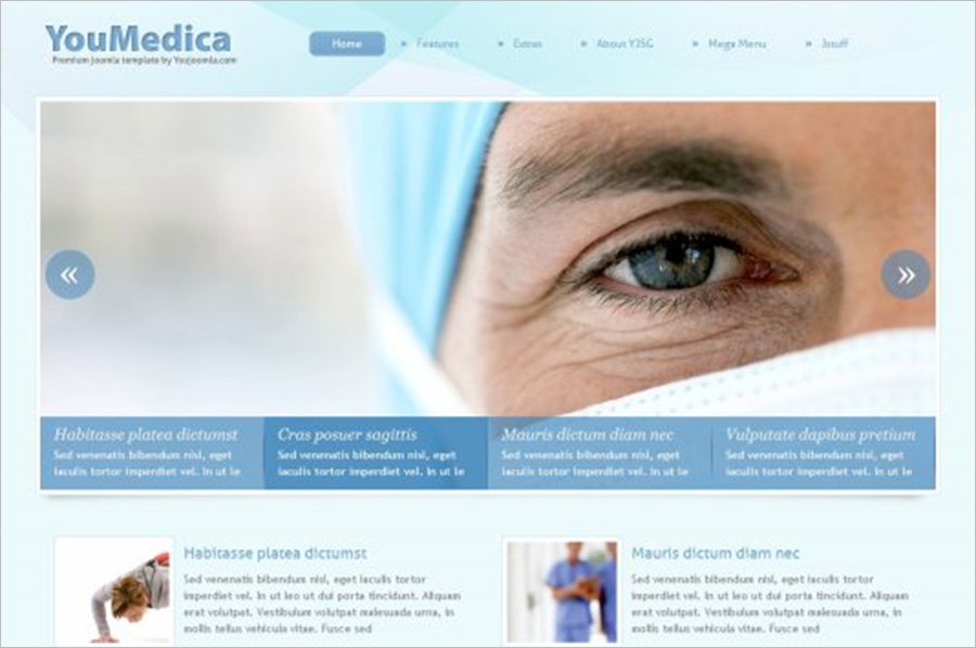 HealthCare Joomla Web Template With Built-in SEO Features