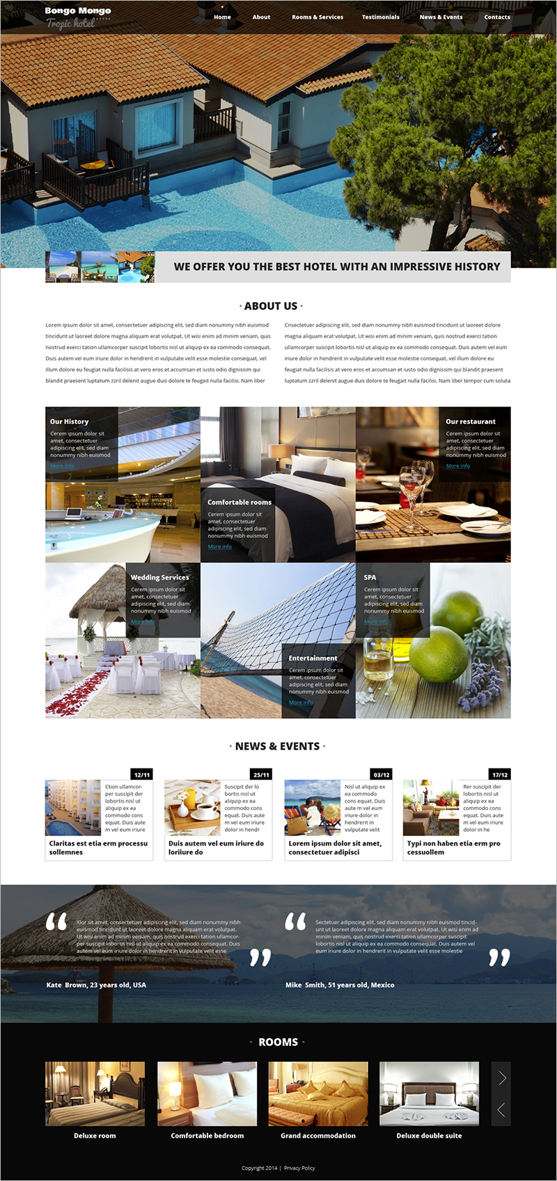 Hotel Business Drupal Template