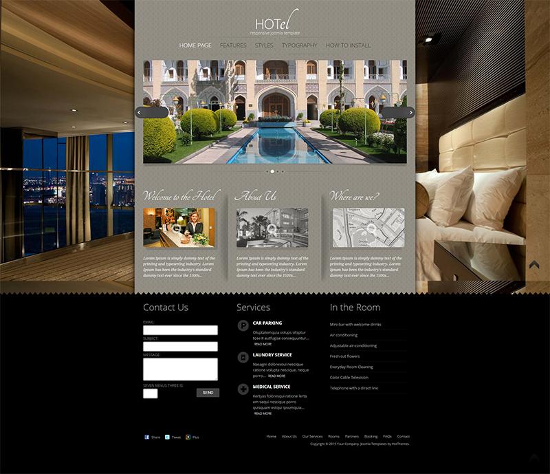 Hotel Reservation Joomla Template