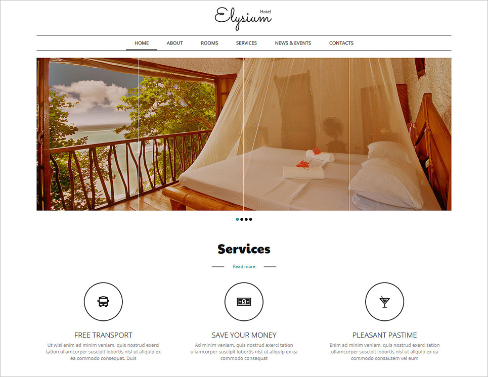 Hotel Room Joomla Template