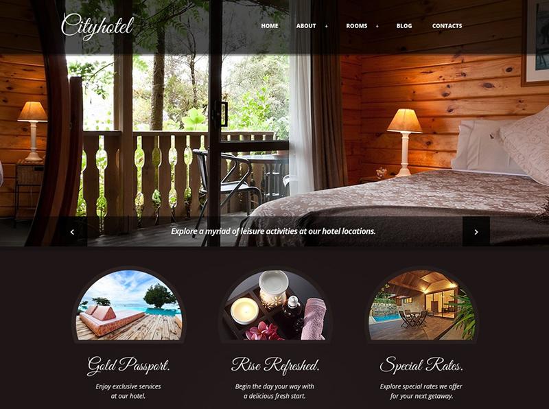 Hotel Service Joomla Template