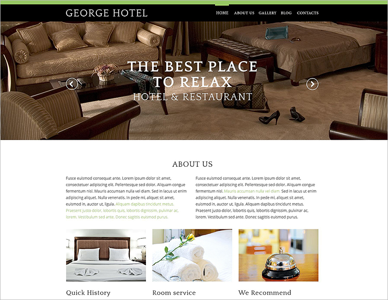 Hotels Business Drupal Template