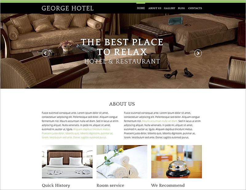 Hotels Business Drupal Template