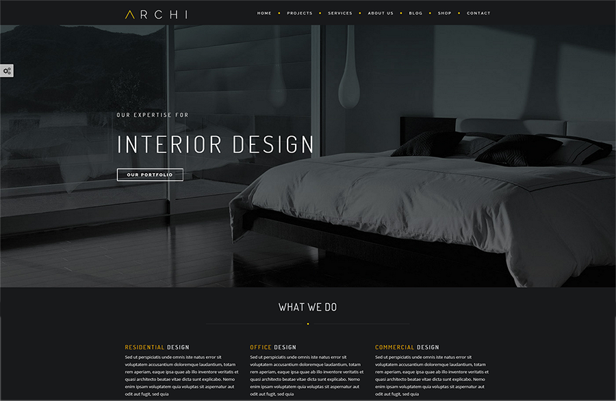 Interior Design Bootstrap Theme With Gallery