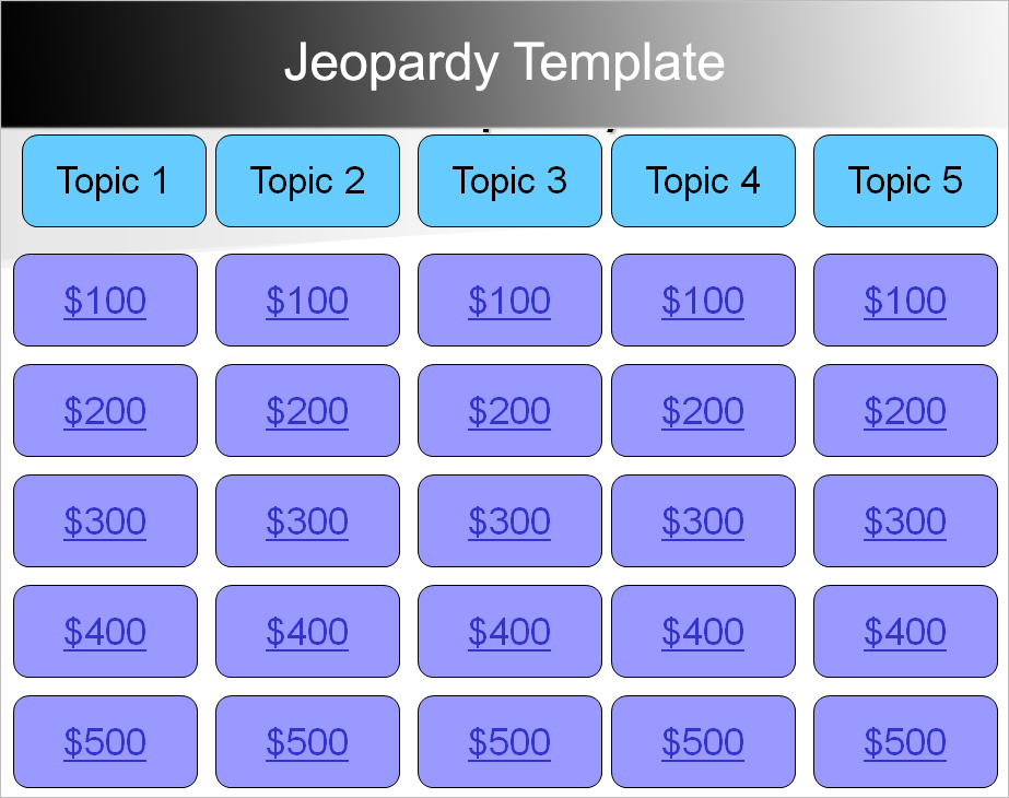 jeopardy powerpoint templates - free ppt, pptx documents, Modern powerpoint
