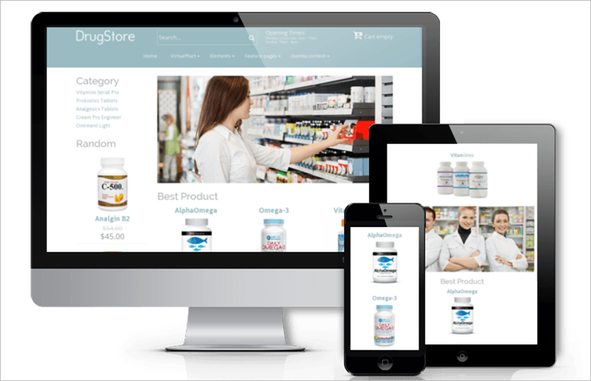 Joomla Pharmacy Template
