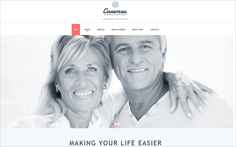Joomla Template For Home Health Care