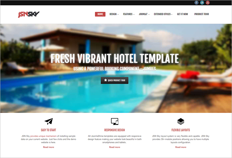 Responsive Joomla Hotel Template