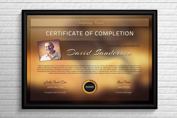 Landscape Certificate Template