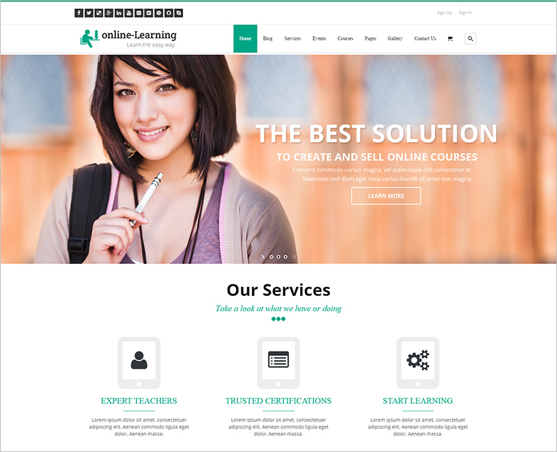 Learning Management System WP Theme