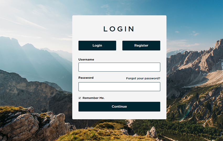 Login & Signup HTML Template