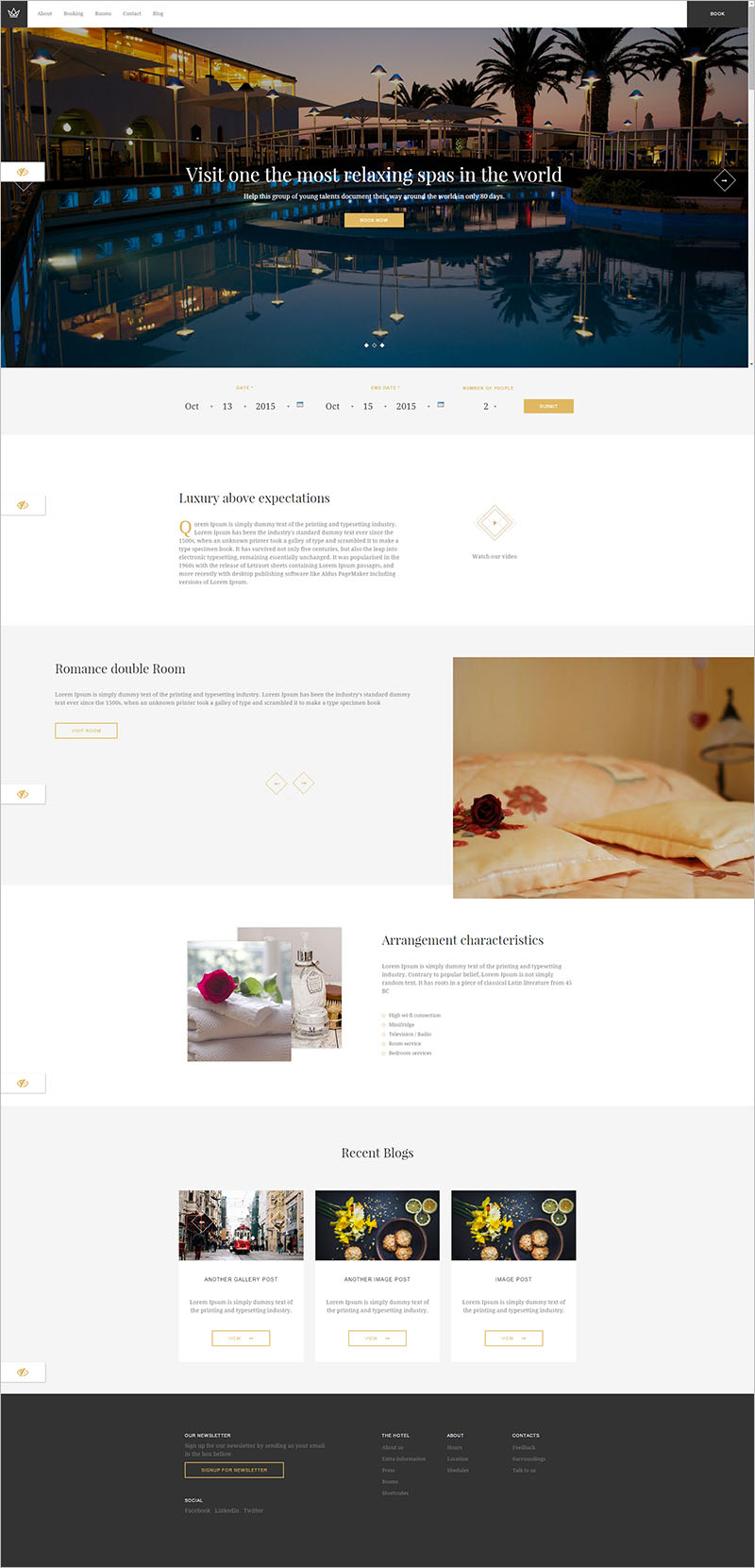 Luxury Hotel Drupal Theme