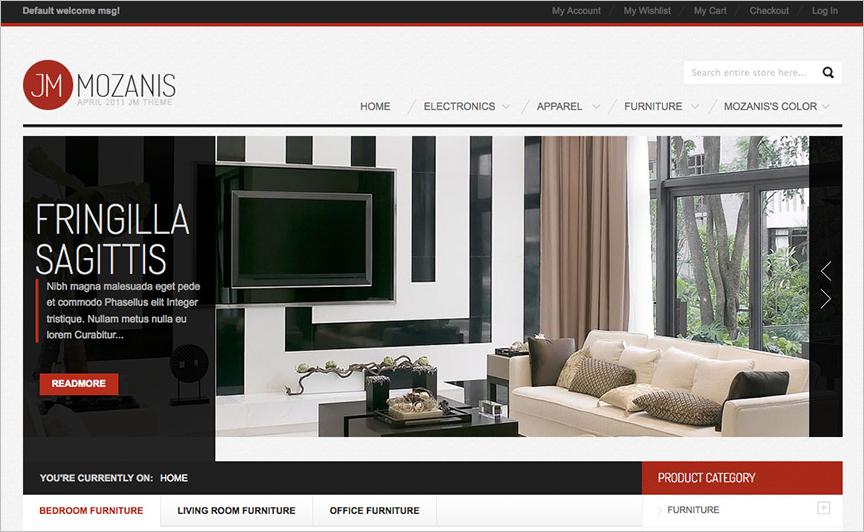 Magento Furniture Template With Mega Menu