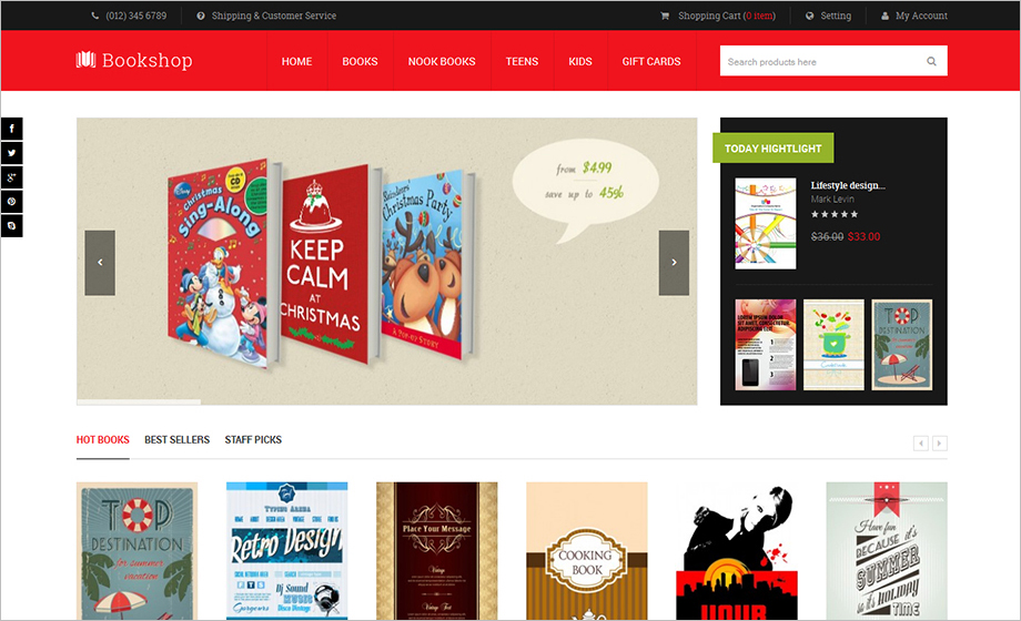 Magento Online Book Sttore Template