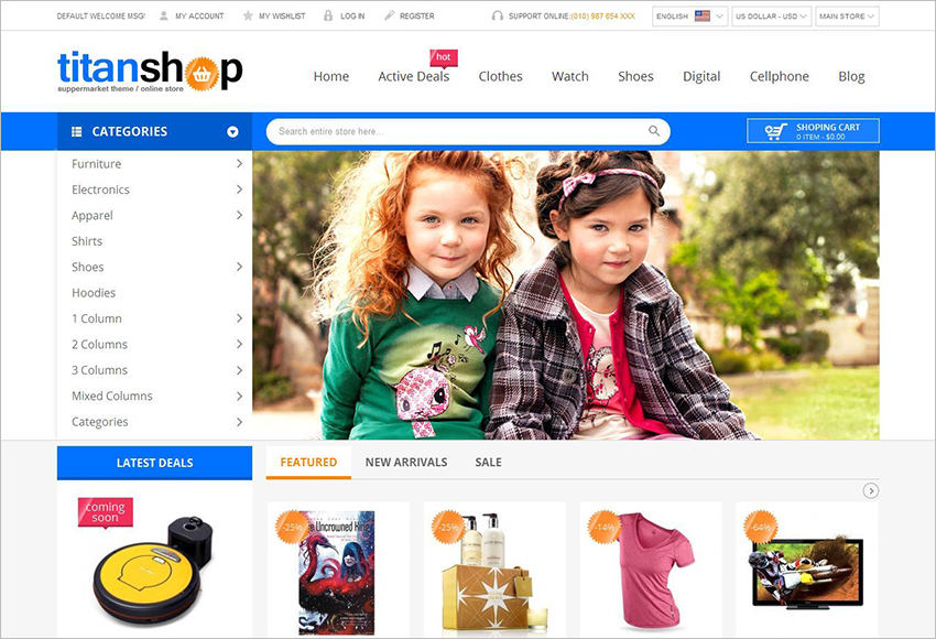 Magento Theme For Online Supermarket Businesses
