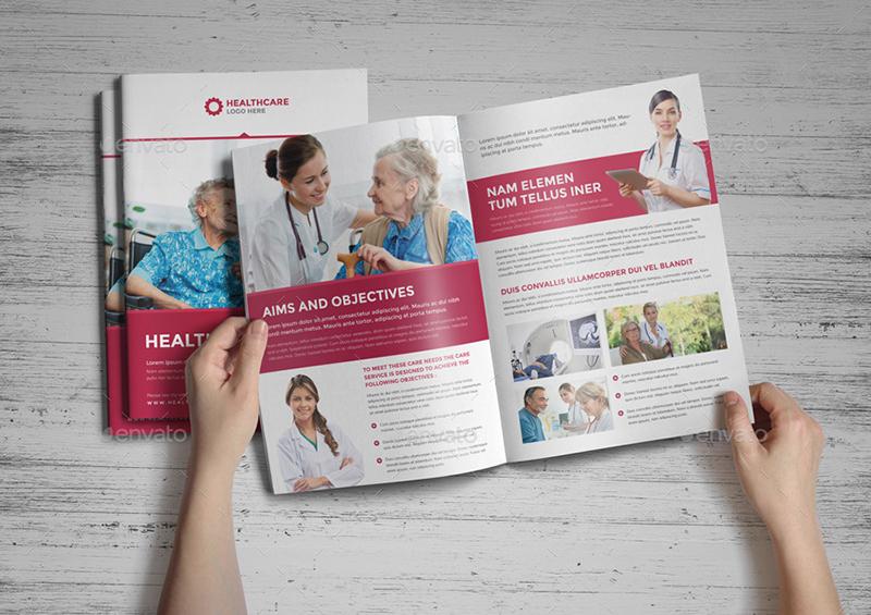 Medical Health Care Bi Fold Brochure Template