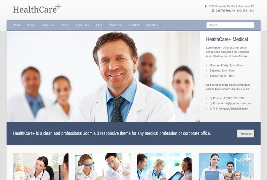 Medical & Health Care Joomla Theme