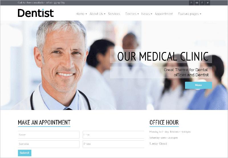 Medical & Health Specialists WebSite Joomla Template