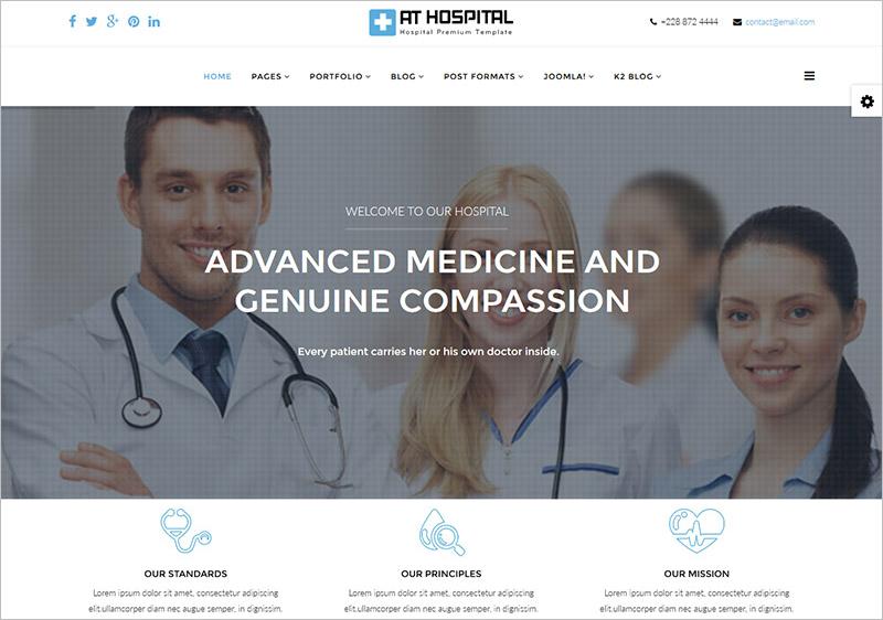 Medical Or Hopspital WebSite Joomla Template