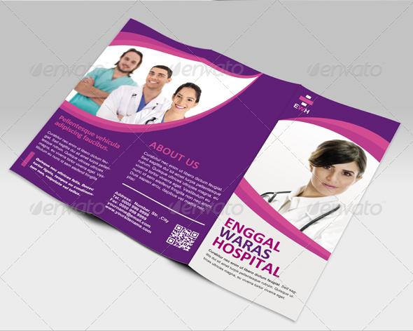 Medical HealthCare Brochures Templates – Hospital Flyer Template