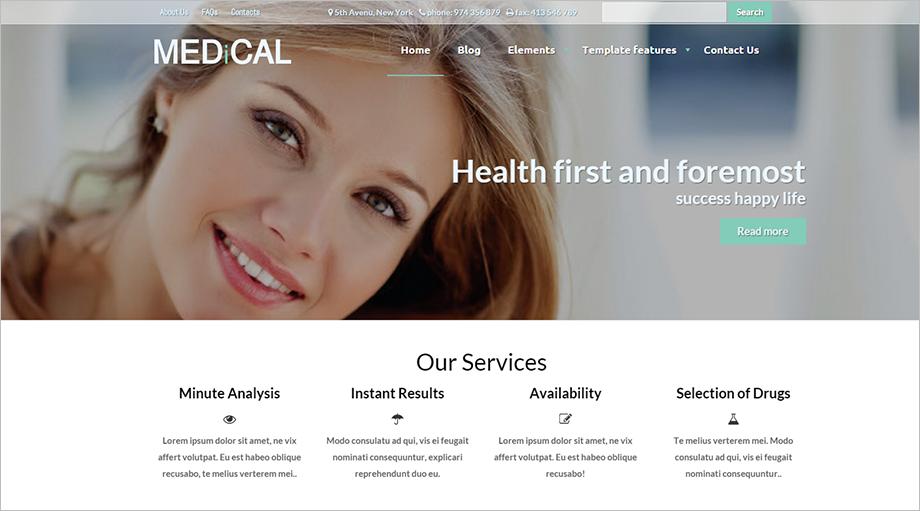 Medical WebSite Drupal Theme