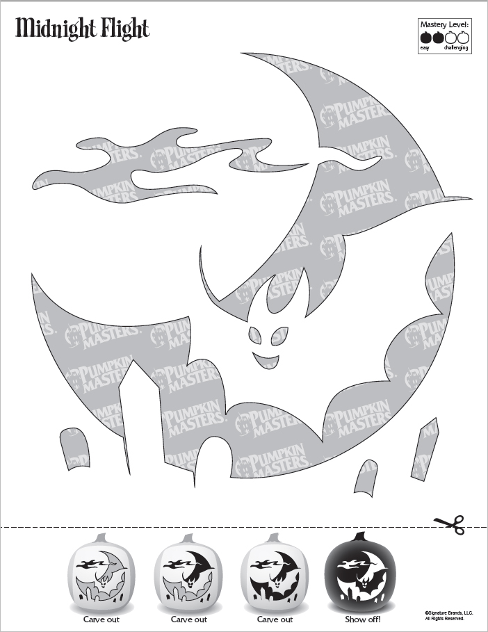 Midnight Flight Pumpkin Pattern Free Download