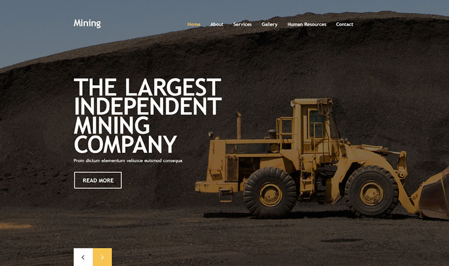 Mining Company ResponsiveBootstrap HTML Template