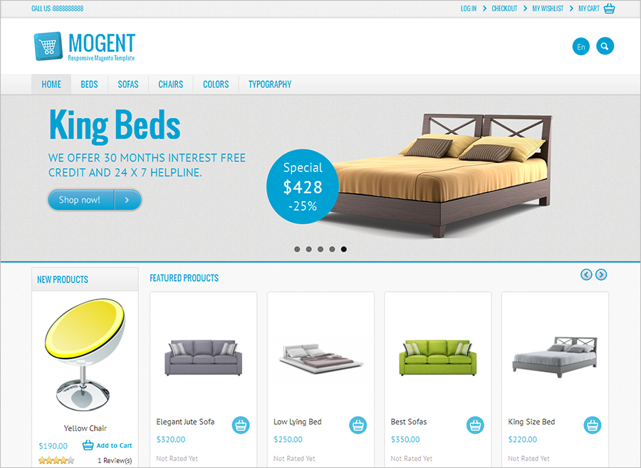Mobile Ready Magento Furniture Template
