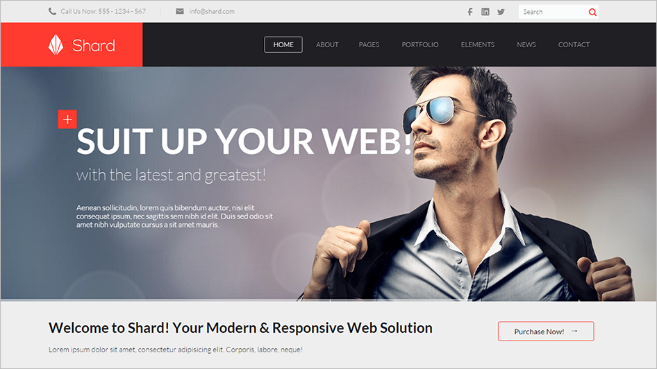 Modern HTML5 Site Template Made For Business