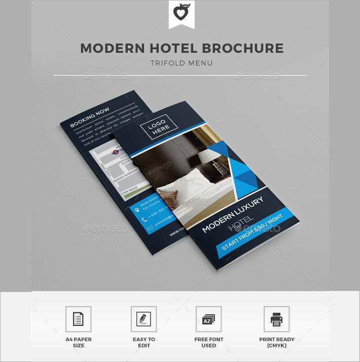 Modern Hotel Trifold Brochure