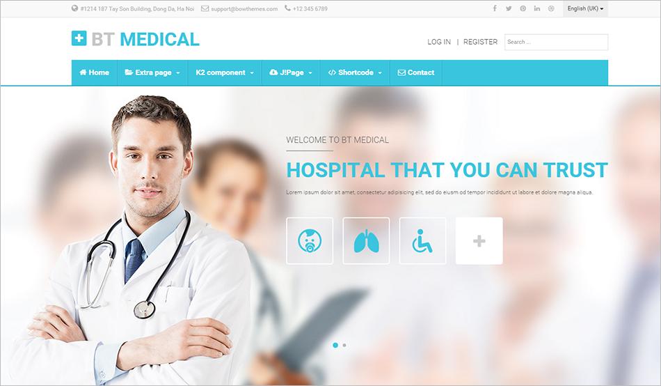 Modern & Stylish Medical Joomla Template