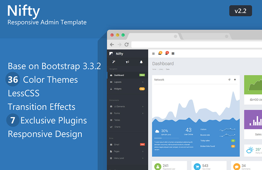 Multi Color AdminBootstrap Template