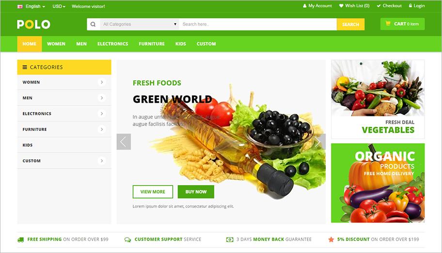 Multi Color & Multipurpose OpenCart Theme