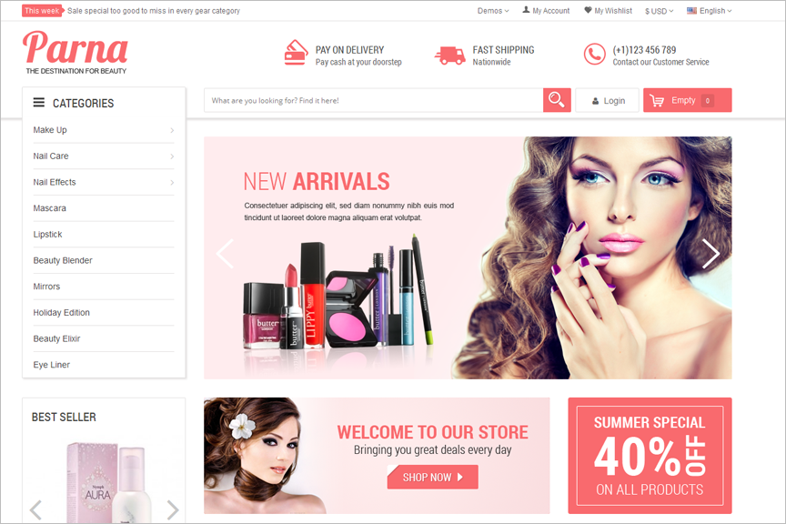 Multipurpose Beauty Store Prestashop Theme
