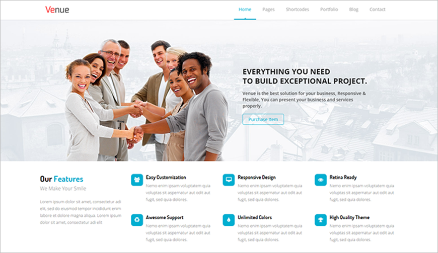 Multipurpose HTML5 Business Template