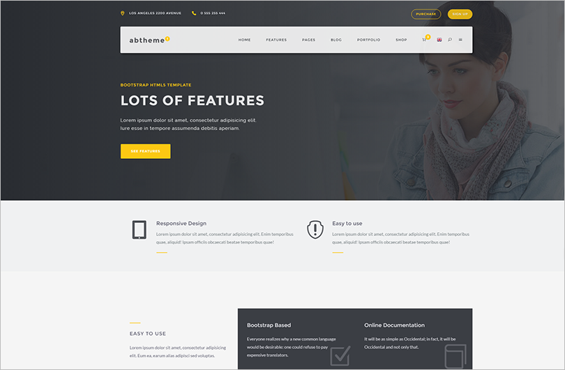 Multipurpose HTML5 Template With Portfolio Layouts