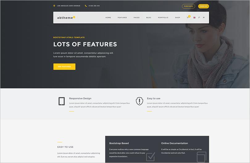 Multipurpose HTML5 Template With Portfolio Layouts