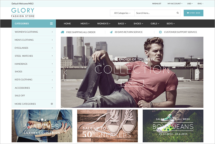 Multipurpose Online Store OpenCart Theme