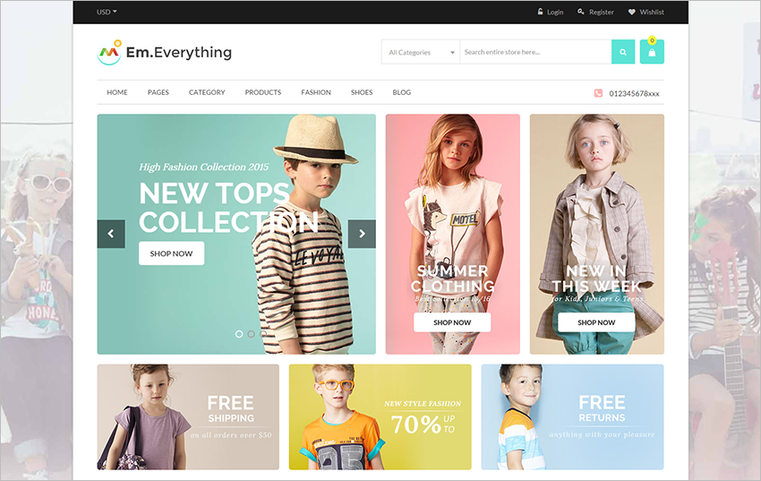 Multipurpose Responsive eCommerce Magento Template