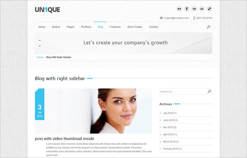 Multipurpose Responsoive WordPress Theme With JQuery