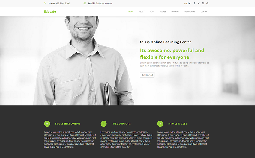 Multipurpose Template For Education, Training, Courses, Online Learning System