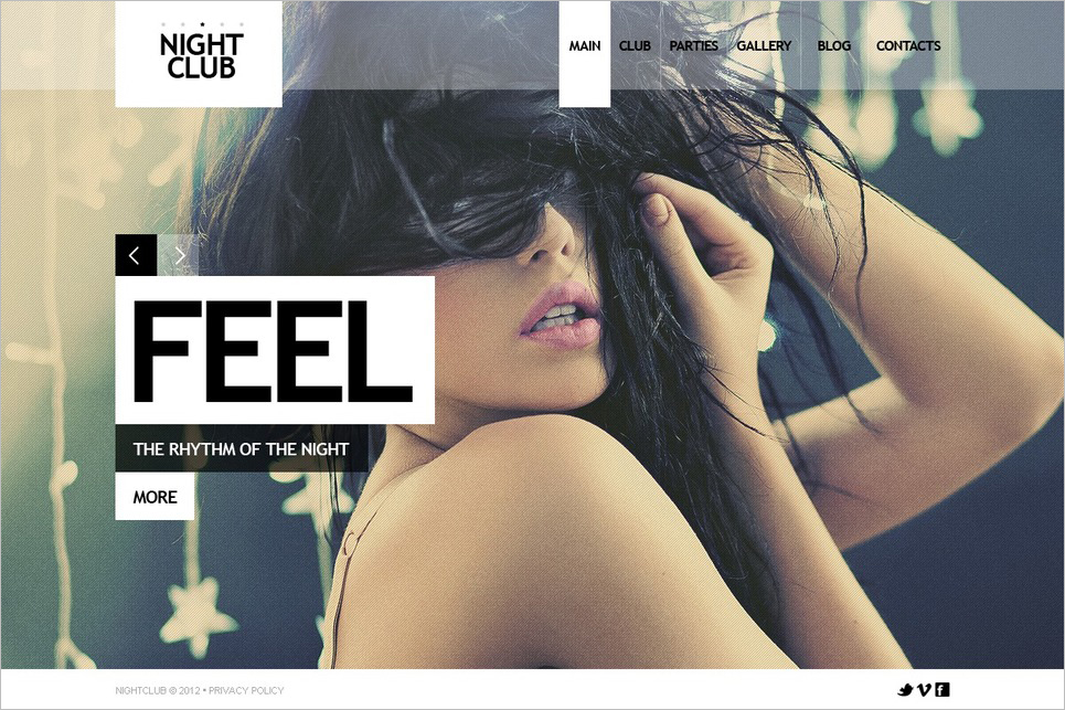 Night Club Website Joomla Template