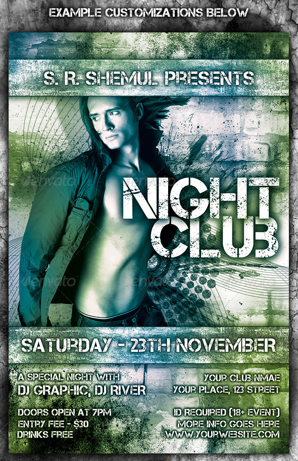Night Party Brochure Template